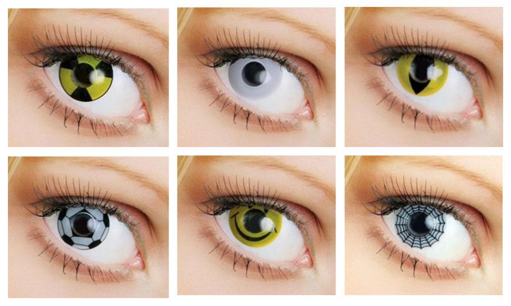 Мягкие контактные линзы Crezy с графикой рисунком