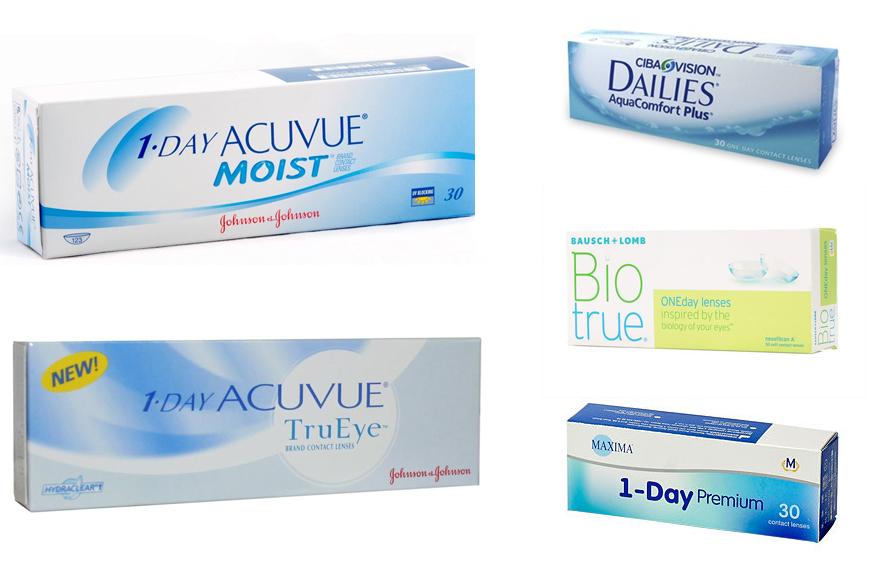 Однодневные мягкие контактные линзы