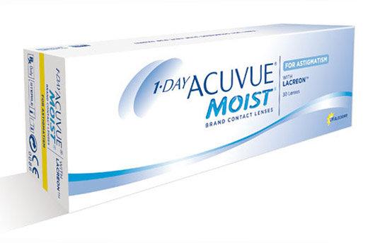 Торические контактные линзы Acuvue Moist One Day