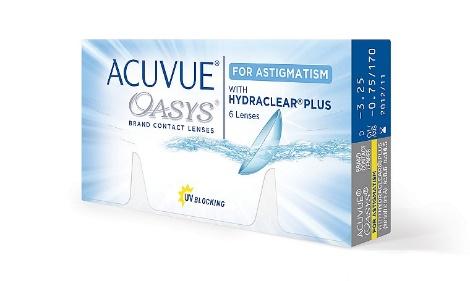 Торические мягкие контактные линзы Acuvue Oasys