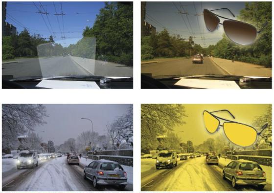 Очки водителя: солнцезащитные, фотохромные, для плохой видимости в Екатеринбурге в салонах оптики Зеркальный
